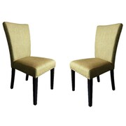 Monsoon Pacific Adorno Parsons Chairs (Set of 2); Basil Linen