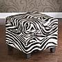 Wildon Home Wilson Zebra Storage Cube Ottoman