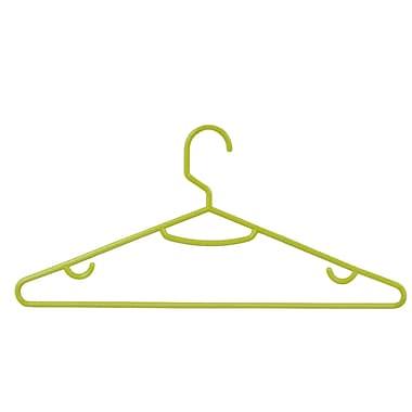 Honey-Can-Do Plastic Recycled Plastic Tubular Hangers Lime Green