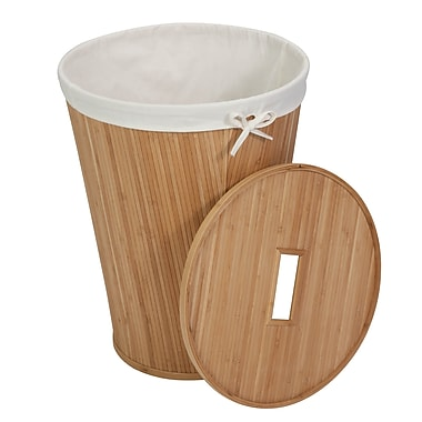 Honey-Can-Do Bamboo Hamper with Lid