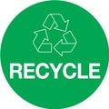 Tape Logic™ 2in. x 3in. in.RECYCLEin. Circle Inventory Label, Green, 500/Roll
