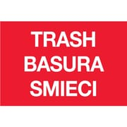 "Tape Logic™ 2"" x 3"" ""TRASH/BASURA/SMIECI"" Inventory Label, Red, 500/Roll"