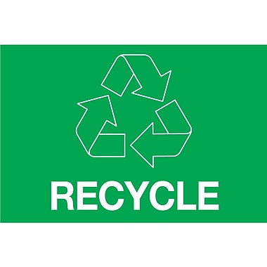 Tape Logic™ 2in. x 3in. in.RECYCLEin. Rectangle Inventory Label, Green, 500/Roll