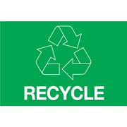 "Tape Logic™ 2"" x 3"" ""RECYCLE"" Rectangle Inventory Label, Green, 500/Roll"