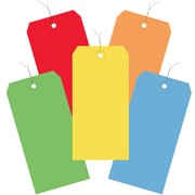 "BOX 4 3/4"" x 2 3/8"" #5 13 Point Pre-Wired Shipping Tags, Assorted"