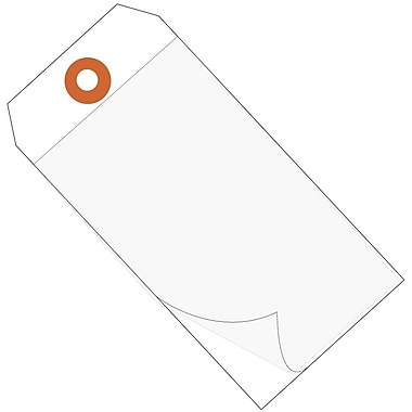 BOX 4 3/4in. x 2 3/8in. #5 Self Laminating Tags, White