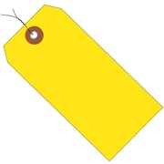 "BOX 4 3/4"" x 2 3/8"" #5 Pre-Wired Plastic Shipping Tags, Yellow"