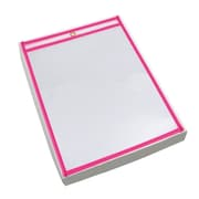 "BOX Job Ticket Holder, 9"" x 12"", Neon Pink"