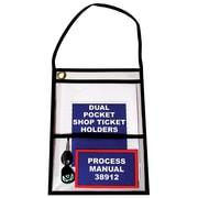 "BOX Dual Pocket Job Ticket Holder, 9"" x 12"""