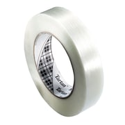 "3M™ 1/2"" x 60 yds. Polypropylene Film Utility Filament Tape, Clear, 72/Pack"