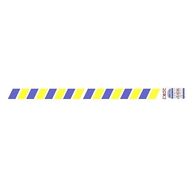 Tyvek® 3/4in. x 10in. Stripes Wristband, Blue/Yellow