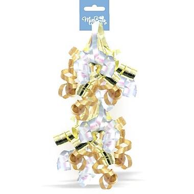 Swirly Bow Pairs, Gold, 12/Pack