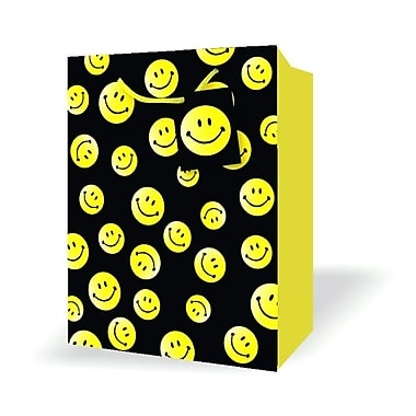 Small Birthday Bags, Smiley Faces, 12/Pack