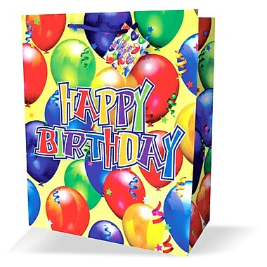 Large Birthday Bags, HBD, 12/Pack