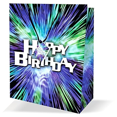 Large Birthday Bags, Blue, 12/Pack