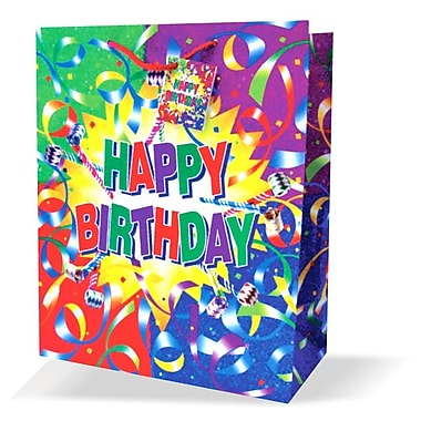 Large Birthday Bags, Multi-Coloured, 12/Pack