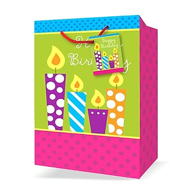 Jumbo Birthday Bags, Candles, 12/Pack