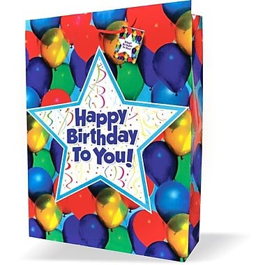 Jumbo Birthday Bags, Balloons, 12/Pack