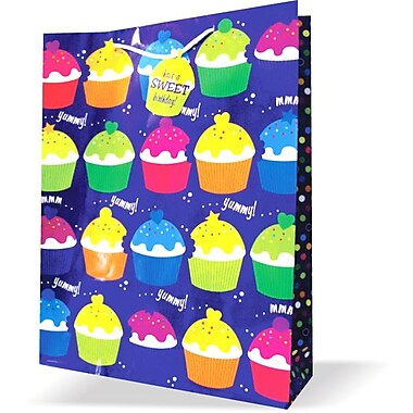 Jumbo Birthday Bags, Cupcakes, 12/Pack