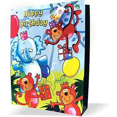 Jumbo Juvenile Bags, Birthday, 12/Pack