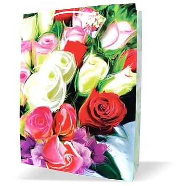Jumbo Feminine Bags, Roses, 12/Pack