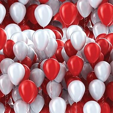 2 Sheet Flat Birthday Wrap, Balloons, 12/Pack