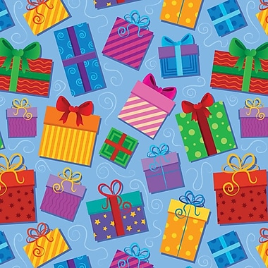 2 Sheet Flat Birthday Wrap, Presents, 12/Pack