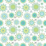 2 Sheet Flat Wrap, White/Green, 12/Pack