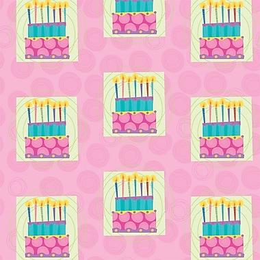 2 Sheet Flat Birthday Wrap, Cake, 12/Pack