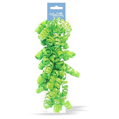 Solid Colour Swirl Bow Pairs, Lime, 12/Pack