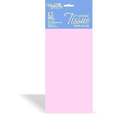 Solid Colour Tissue, Light Pink, 12/Pack