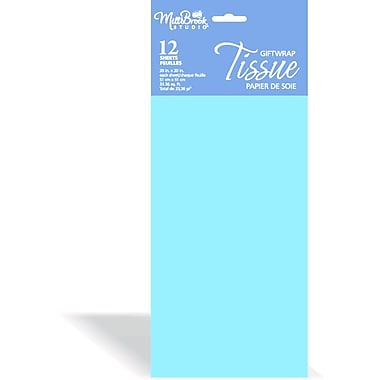 Solid Colour Tissue, Light Blue, 12/Pack