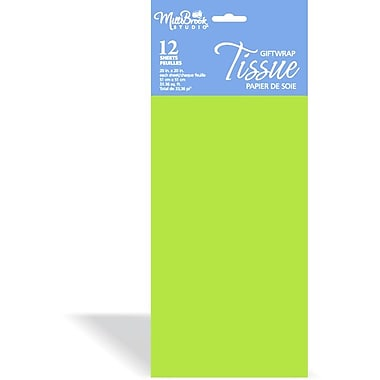 Solid Colour Tissue, Citrus, 12/Pack