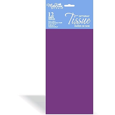 Solid Colour Tissue, Purple, 12/Pack