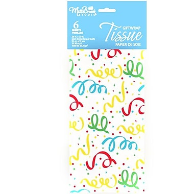 Printed 6 Sheet Tissue Paper, Candles, 12/Pack