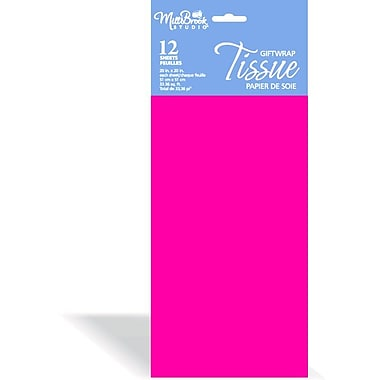 Solid Colour Tissue, Cerise, 12/Pack