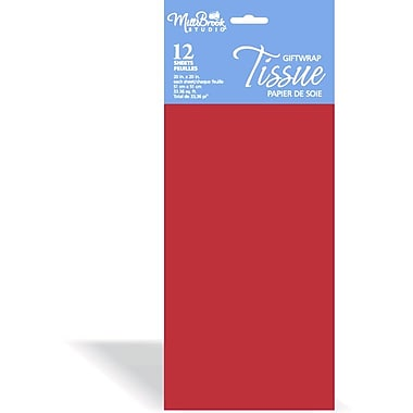 Solid Colour Tissue, Burgundy, 12/Pack