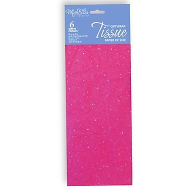 6 Sheet Tissue Paper, Sequin Hot Pink, 12/Pack