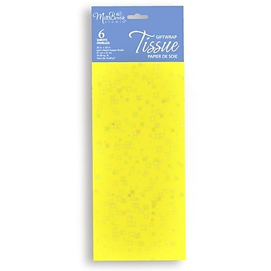 6 Sheet Tissue Paper, Sequin Yellow, 12/Pack