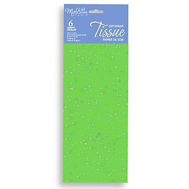 6 Sheet Tissue Paper, Sequin Lime, 12/Pack