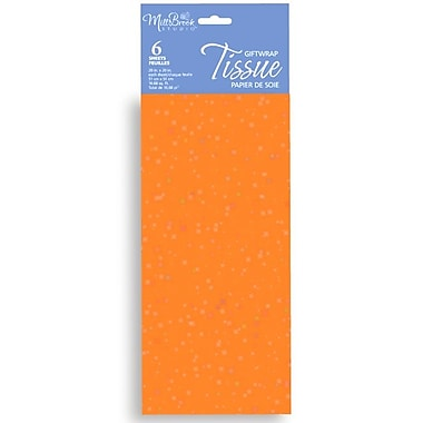 6 Sheet Tissue Paper, Sequin Orange, 12/Pack