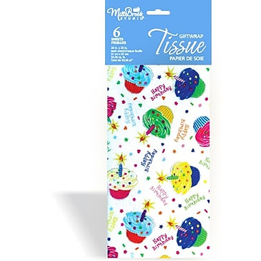 6 Sheet Tissue Paper, Happy Birthday Cupcake, 12/Pack