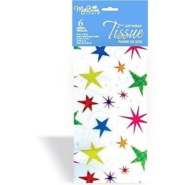Printed 6 Sheet Tissue Paper, Stars, 12/Pack