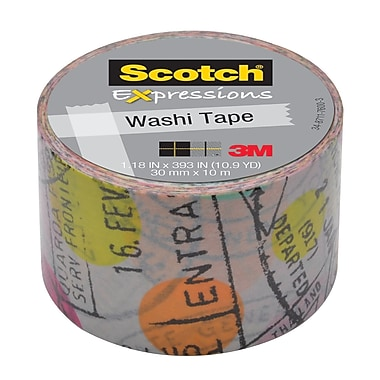 Scotch® Expressions Washi Tape, 30 mm x 10 m, Travel