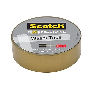 Scotch® Expressions Washi Tape, 15 mm x 10 m, Gold