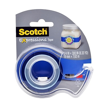 Scotch® Expressions Magic™ Tape, 19 mm x 7.62 m, Dark Blue