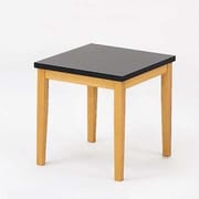 Lesro Lenox End Table with Black Melamine Top; Medium