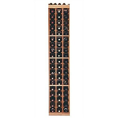 Wine Cellar Designer Series 60 Bottle Floor Wine Rack; Premium Redwood Classic Stained