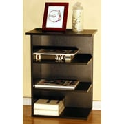 Home Concept Modern 3 Shelf End Table; Light Cherry