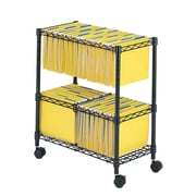Safco Products 29.75'' Two-Tier Rolling File Cart